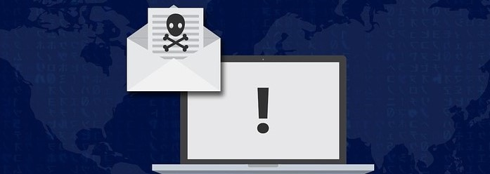 image showing ransomware symbols on a computer