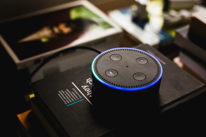close up of alexa device